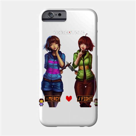 Undertale Frisk Mercy Iphone All Hp undertale frisk and chara fight phone teepublic