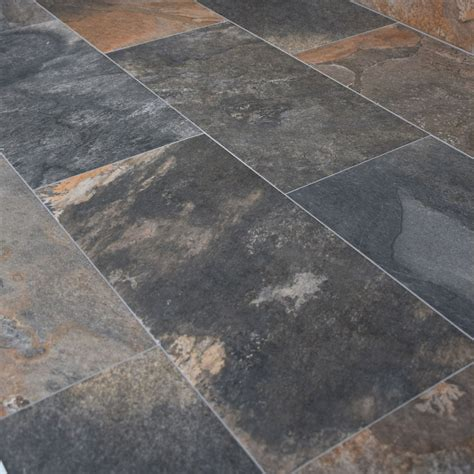 natural slate effect porcelain multicolour 30x60cm
