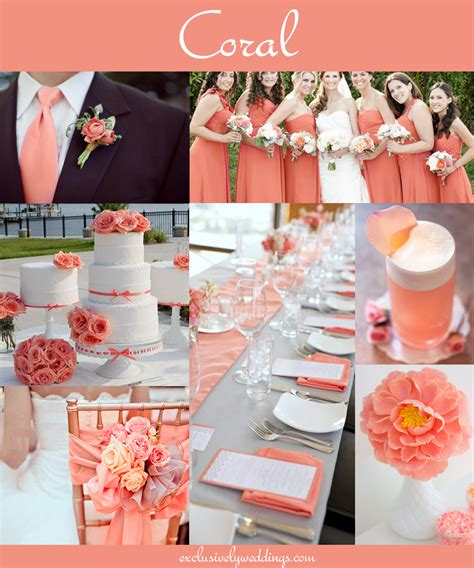 Coral wedding color combination options you don t want to overlook exclusively weddings blog