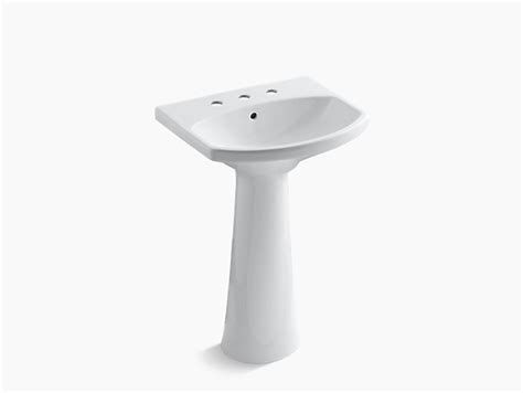 kohler cimarron pedestal sink cimarron pedestal sink with 8 inch centers k 2362 8 kohler