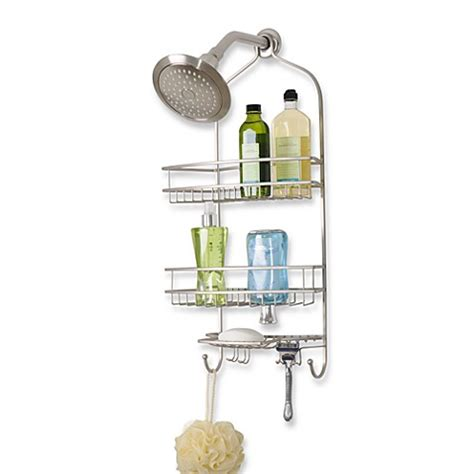 extra wide bathtub caddy extra large satin nickel shower caddy bed bath beyond