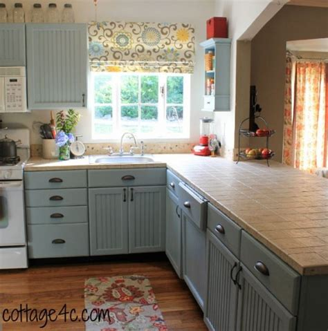 painted wooden kitchen cabinets dreamy dwelling home tour cottage family its overflowing