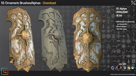 zbrush ornament tutorial 55 ornament zbrush brushes and alphas
