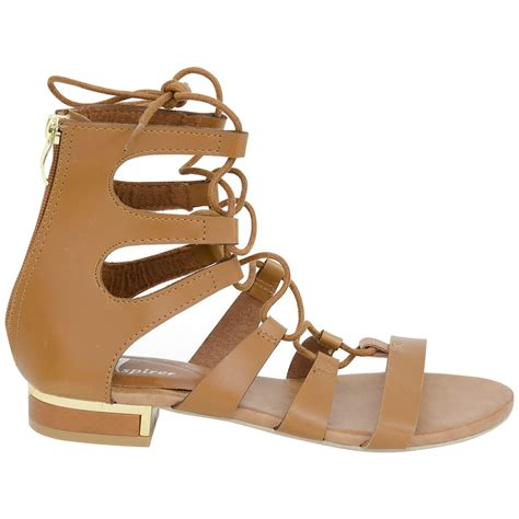 gladiator flat sandals new womens ankle high gladiator flat sandals summer