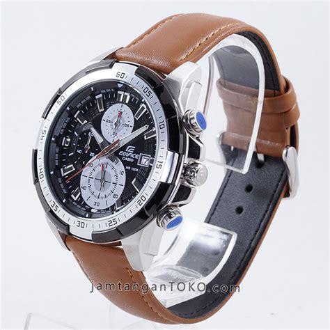 Edifice 539 Kulit harga sarap jam tangan edifice efr 539l 1bv kulit coklat clone original