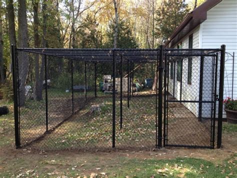 backyard dog fence outdoor dog kennels