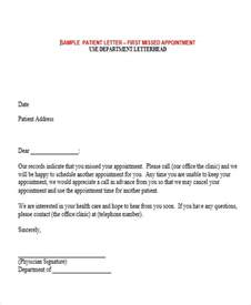Letter Patient Missed Appointment Doctor Appointment Letter Botbuzz Co
