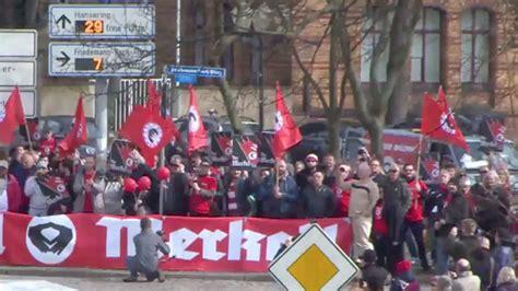 heil merkel german city protests visit by chancellor
