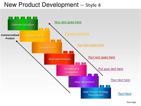 New Product Development Strategy Style 4 Powerpoint Presentation Temp New Product Presentation Template