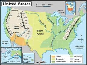 united states map landforms great plains physical map search social studies