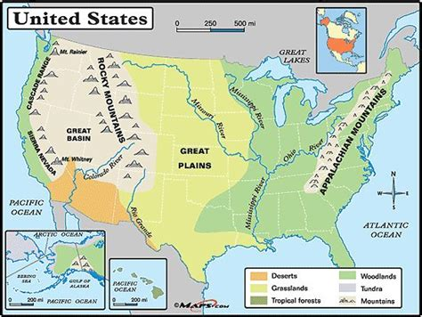 physical map of usa with states great plains physical map search social studies
