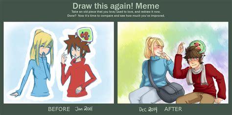 Samus Meme - pit and samus draw this again meme by otameganegrl on