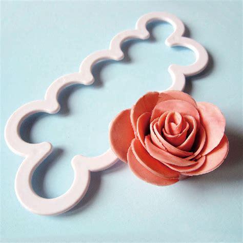 Plugger Four Petal Cetakan Fondant 3pcs flower petal cutter fondant cake chocolate sugarcraft mold d wallmart