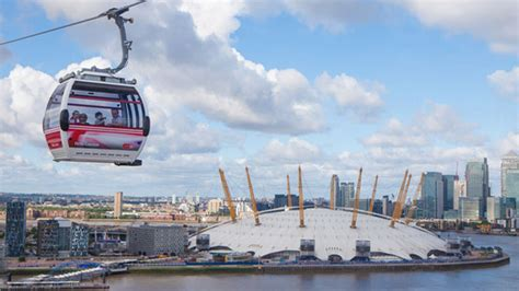 river thames zip wire thames cable car oyster card visitbritain