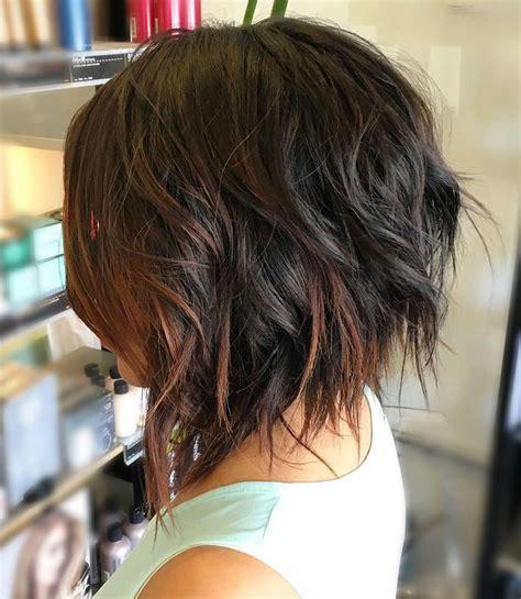 asymmetrical short haircuts  balayage highlights
