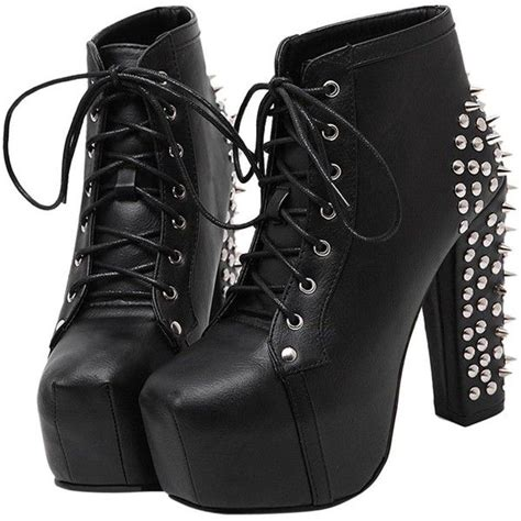 Lace Up Studded Platform Shoes 1000 ideas about chunky heel boots on chunky