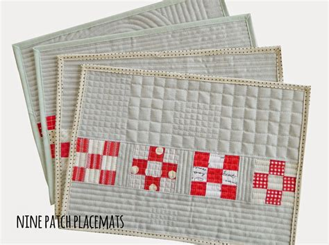 Sotak Handmade - s o t a k handmade nine patch placemats a tutorial