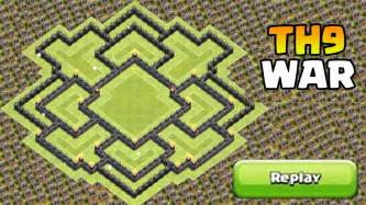 Clash of clans quot new update quot th9 war base coc th9 trophy base with