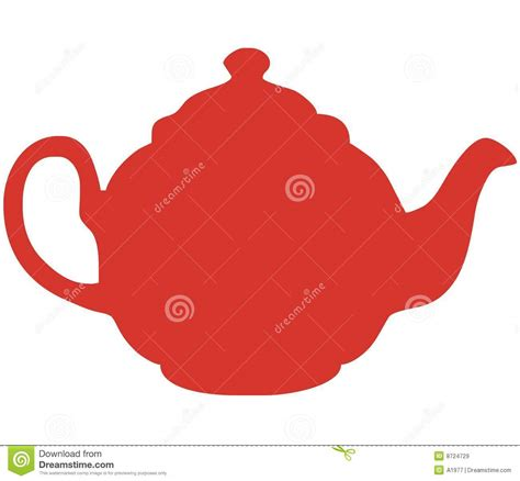 Red Teapot Vector Illustration Royalty Free Stock Images   Image: 8724729