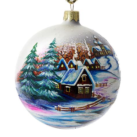 quot countryside quot hand painted christmas ball made in ukraine
