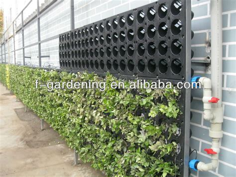 Green Wall Planters by New Vertical Wall Planter Plastic Green Wall Planters Living Wall System View Green Wall Sol