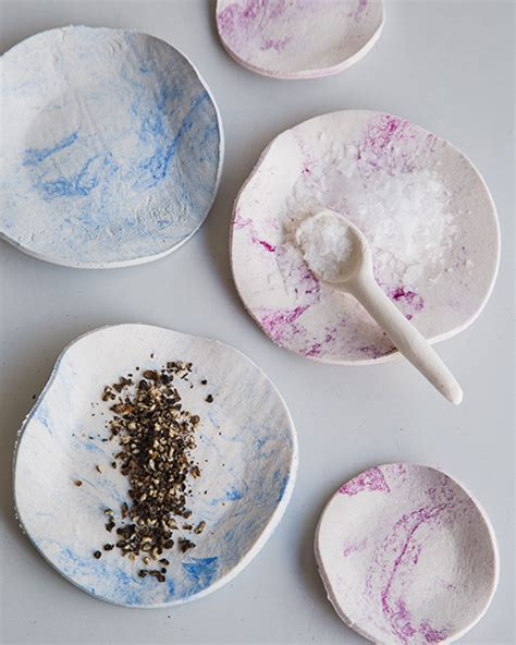 Paper Clay Crafts - marbled paper clay bowls sweet paul magazine