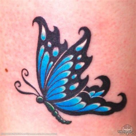 small blue tattoo small butterfly tattoos on shoulder designs