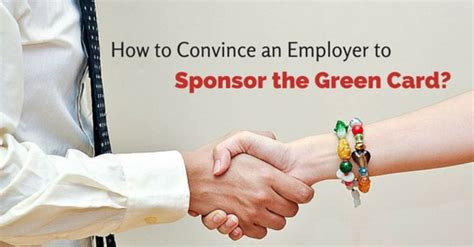 Convincing Employer To Sponsor Mba by How To Convince An Employer To Sponsor Green Card Wisestep