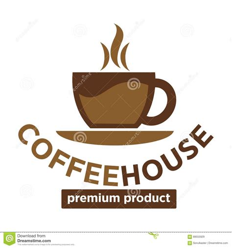 coffee house logo design coffee house cafeteria or cafe vector icon template stock