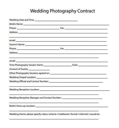 photography contract template tips guidelines