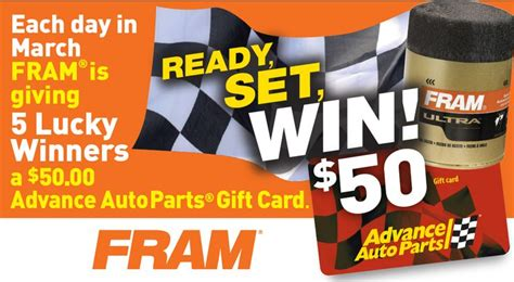 Advance Auto Parts Gift Card - 17 best images about advance contests and giveaways on pinterest trips auto parts
