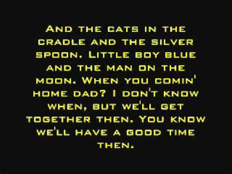 cat lyrics cats in the cradle harry chapin lyrics