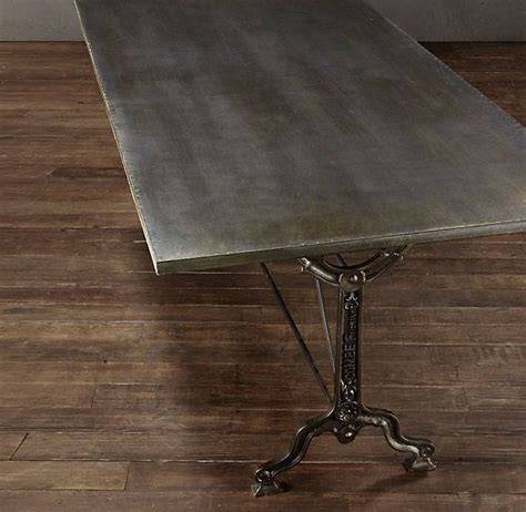 zinc top table restoration hardware restoration hardware zinc table cafe room redo