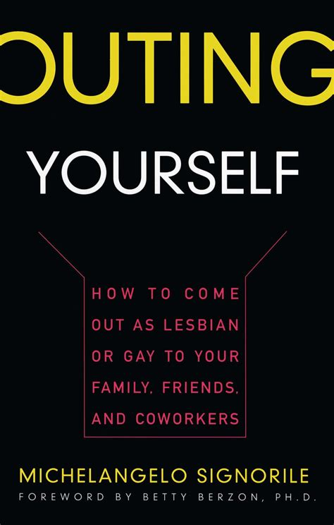 Books On Coming Out Of The Closet by Outing Yourself Book By Michelangelo Signorile
