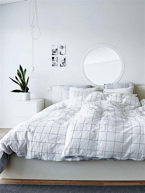 Grid Bed Sheets by Minimal Bedrooms Again Homey Oh