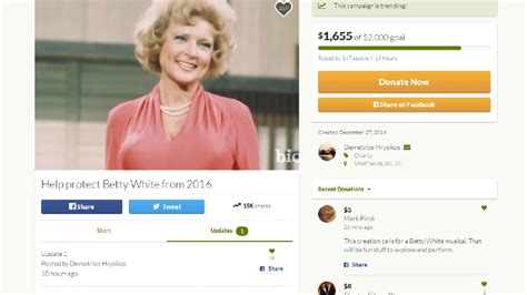 Small And Imperfectly Formed Saved By Betty by Fundraiser To Save Betty White Goes Viral Wlos