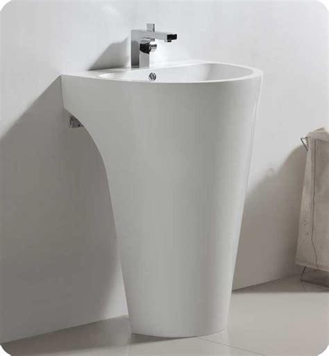 24 quot fresca parma fvn5023wh white pedestal sink w medicine cabinet modern bathroom vanity