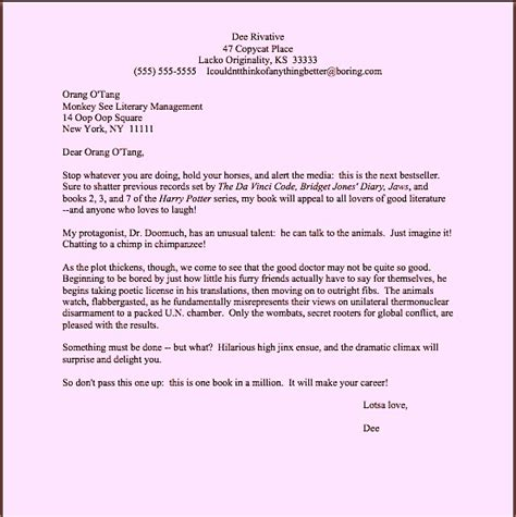 format novel query query letter template query letter format query letter
