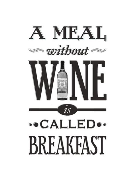 printable wine quotes wine poster a meal without wine kitchen art wine print
