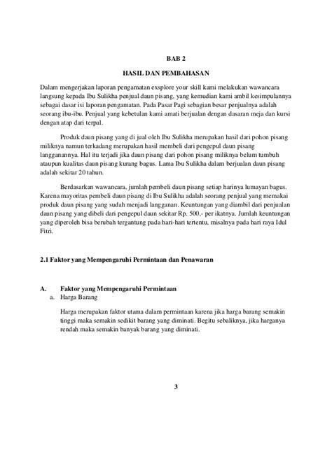 contoh laporan wawancara pedagang laporan pengamatan di pasar tradisional pasar pagi