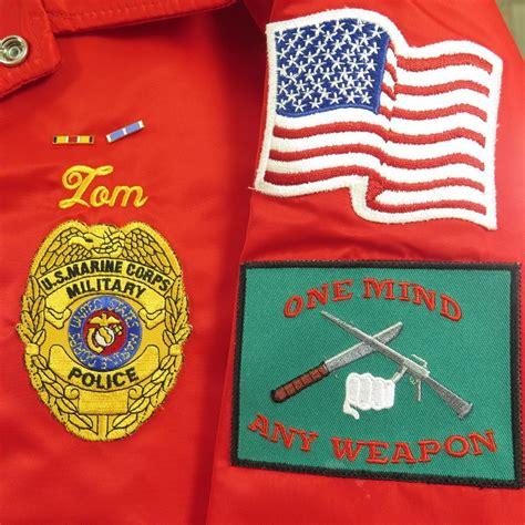 vintage 80s dogs marines jacket mens large deadstock