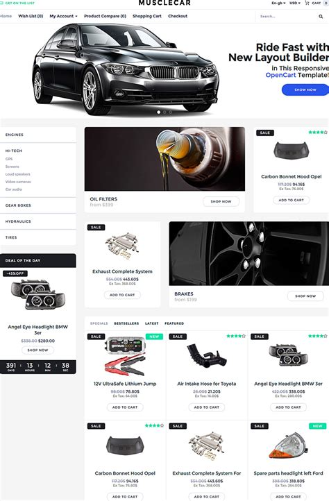 opencart template builder weekly template collection 2 multipurpose baby auto