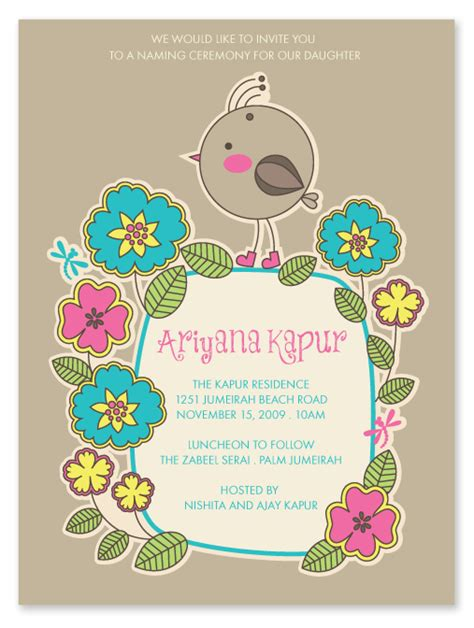 Invitation Letter Format For Naming Ceremony hindu naming ceremony invitation paper couture naming ceremony invitation