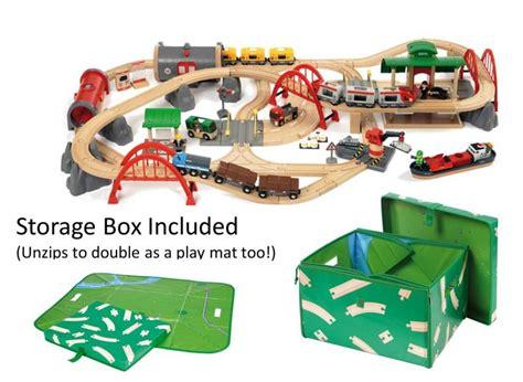 brio table train set brio deluxe railway train set 33052 table mountain toys