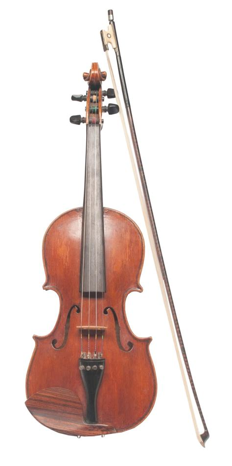 Handcrafted Musical Instruments - handmade violin with label inside dated 1918 along with bow