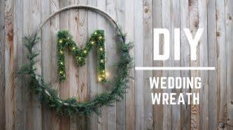 DIY WEDDING DECOR : GORGEOUS WEDDING WREATH   YouTube