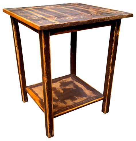Rustic Accent Table Rustic Side Table Crowdbuild For
