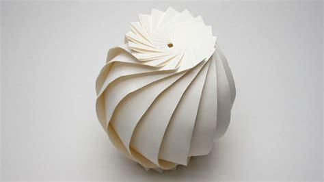 Sphere Origami - easy origami sphere 16 flaps tutorial jun mitani