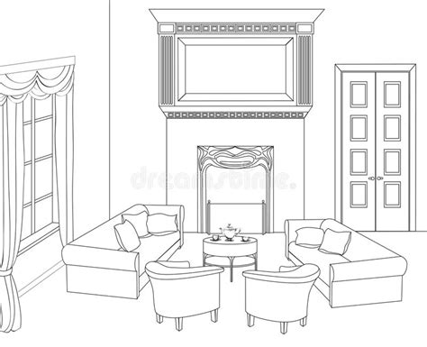 draw a room online drawing room with fireplace editable vector furniture