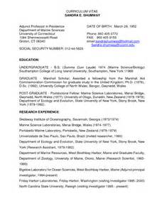 best photos of sample curriculum vitae for professor
